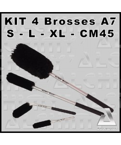 KIT 4 BROSSES A7- S / L / XL / CM45